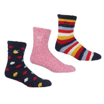 Kuschelige Lounge-Socken, 3er-Pack für Damen Blau