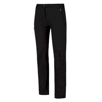 Xert Stretch II Zip-Off-Wanderhose Für Damen Schwarz