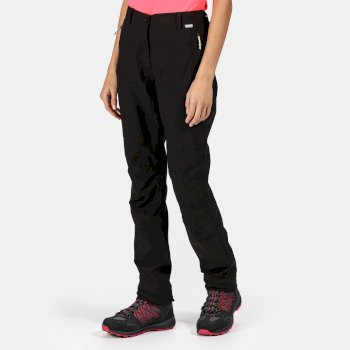 Regatta Women's Dayhike III Waterproof Hiking Trousers Black