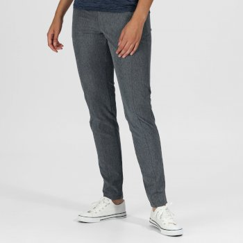 Kimberley Walsh Pentre Stretch Walking Trousers - Seal Grey Marl