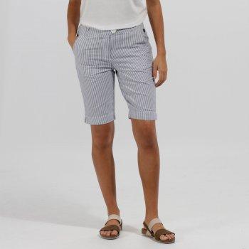 Regatta Sophilla II Coolweave Cotton Shorts Ticking Stripe