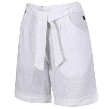 Samarah Damen-Shorts aus Coolweave-Baumwolle weiß