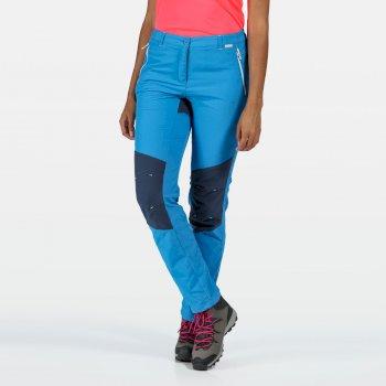 Sungari II leichte Wander-Stretchhose für Damen Blau
