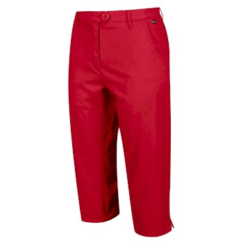 Kimberley Walsh Maleena II Casual Capri Trousers - True Red