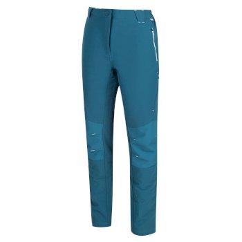 Questra II Softshell-Walkinghose für Damen Blau