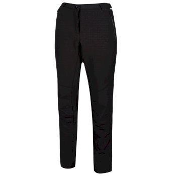 Questra II Softshell-Walkinghose für Damen Schwarz