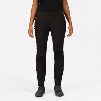 Highton Stretch Walkinghose für Damen Schwarz