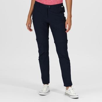 Highton Zip-Off-Walkinghose für Damen Blau