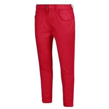 Gabrina mittellange Denim-Skinnyjeans für Damen Rot