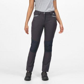 Questra III Damen-Wanderhose mit vielen Taschen Grau