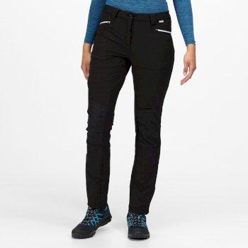 Questra III Damen-Wanderhose mit vielen Taschen Schwarz