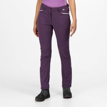 Questra III Damen-Wanderhose mit vielen Taschen Lila
