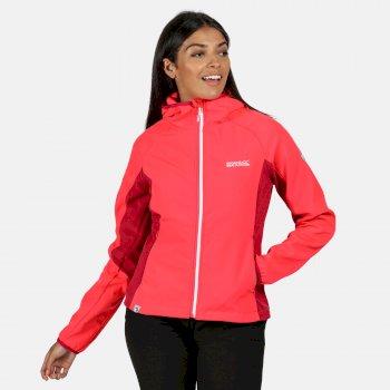 Arec II Damen-Softshelljacke In Stretch-Qualität Mit Kapuze Rosa