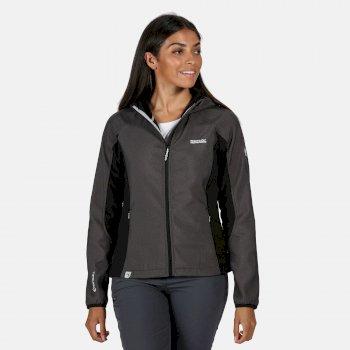 Arec II Damen-Softshell-Jacke in Stretch-Qualität mit Kapuze Schwarz