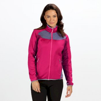 Yare Damen-Softshelljacke aus Strick-Stretch dunkelrot