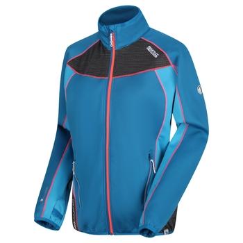 Yare Damen-Softshelljacke aus Strick-Stretch Petrol Atlantic Blue