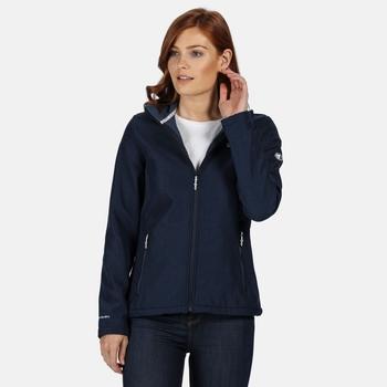 Connie IV Softshell-Walkingjacke für Damen Blau