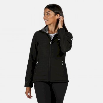 Connie IV Softshell-Walkingjacke für Damen Schwarz
