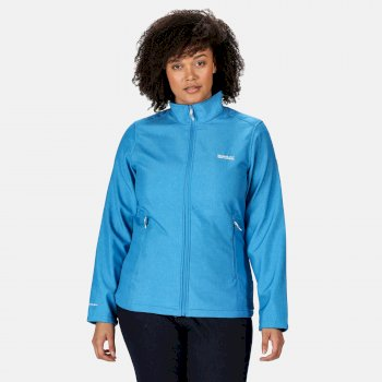 Connie IV Softshell-Walkingjacke für Damen Blau