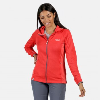Regatta Women's Helio Hooded Stretch Midlayer - Red Sky
