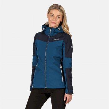 Desoto VI wasserdichte, winddichte Softshell-Jacke mit Kapuze für Damen Blau