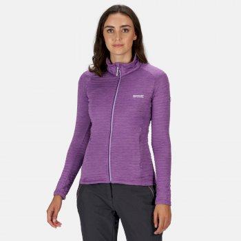 Regatta Women's Highton Lite Full Zip Softshell Stretch Midlayer - Plum Jam