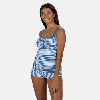 Regatta Women's Aceana Bikini Shorts - Strong Blue Stripe