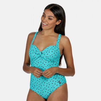Sakari Bauchweg-Badeanzug für Damen Blau