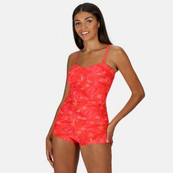 Regatta Women's Aceana II Tankini Top - Red Sky Tropical Print