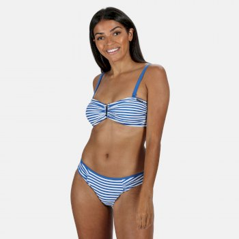 Regatta Women's Aceana III Bikini Top - Strong Blue Stripe