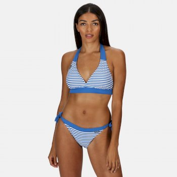 Kimberley Walsh Flavia String Bikini Bottoms - Strong Blue Stripe