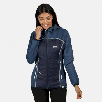 Regatta Women's Andreson IV Lightweight Hooded Hybrid Jacket - Dark Denim Navy