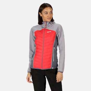 Regatta Women's Andreson IV Lightweight Hooded Hybrid Jacket - Dapple Red Sky