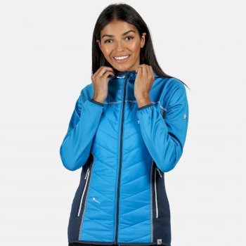 Andreson IV - Damen Hybridjacke - Kapuze - leicht Blau