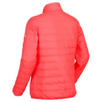 Whitehill leichte, gesteppte Walkingjacke mit Daunenfüllung für Damen Fiery Coral