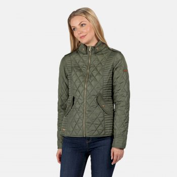 Regatta Women's Carita Quilted Jacket - Thyme Leaf