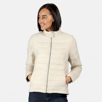 Kimberley Walsh Karenna Quilted Insulated Jacket - Light Vanilla Silver