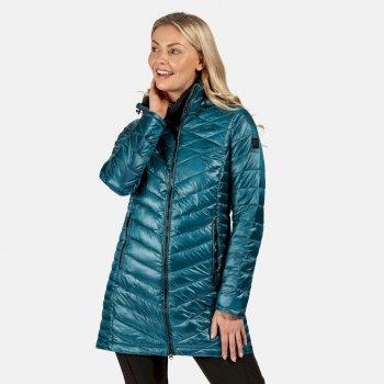 Andell II leichte, isolierte, gesteppte Parka-Walkingjacke mit Kapuze für Damen Blau