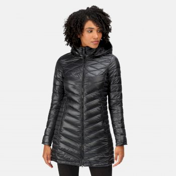 Regatta Women's Andell II Lightweight Insulated Quilted Hooded Parka Walking Jacket - Black