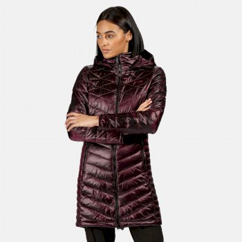 Regatta Women's Andell II Lightweight Insulated Quilted Hooded Parka Walking Jacket - Prune