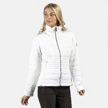 Lustel leichte, isolierte, gesteppte Walkingjacke für Damen Weiß