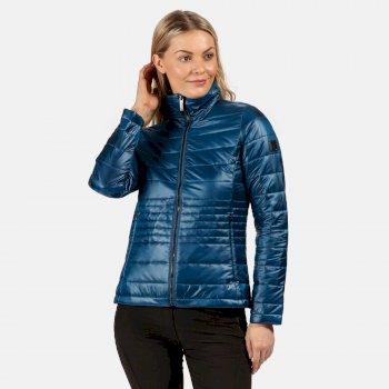 Lustel leichte, isolierte, gesteppte Walkingjacke für Damen Blau