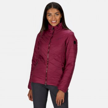 Regatta Women's Voltera Loft Insulated Quilted Hooded Heated Walking Jacket - Purple Potion