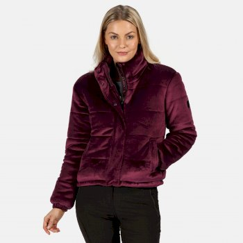 Regatta Women's Elbury Insulated Quilted Velour Puffer Walking Jacket - Prune