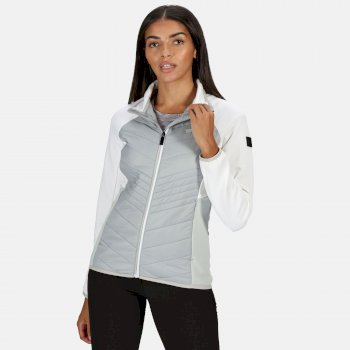 Regatta Women's Clumber Hybrid Lightweight Insulated Quilted Walking Jacket - Light Steel White