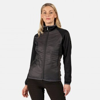 Regatta Women's Clumber Hybrid Lightweight Insulated Quilted Walking Jacket - Ash Black