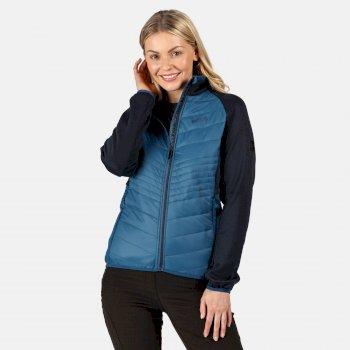 Clumber Hybrid leichte, isolierte, gesteppte Walkingjacke für Damen Blau