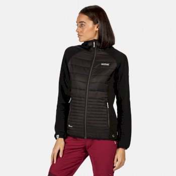 Regatta Women's Anderson V Hybrid Insulated Quilted Hooded Walking Jacket - Black