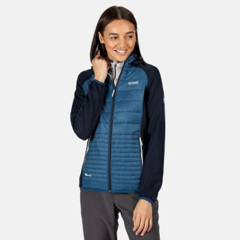 Andreson V Hybrid isolierte, gesteppte Walkingjacke mit Kapuze für Damen Blau