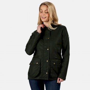 Regatta Women's Lady Country Water Repellent Wax Jacket - Dark Khaki